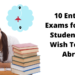 Entrance Exams to Study Abroad