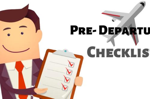 pre-departure checklist