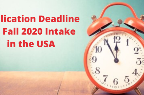 Applicatio deadline 2020