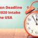 Applicatio deadline 2020