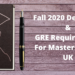 Masters in UK